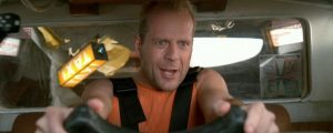 Bruce Willis as a Tax Driver