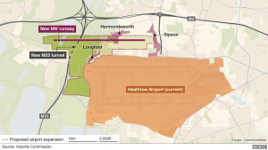 Proposed Heathrow Expansion Graphic