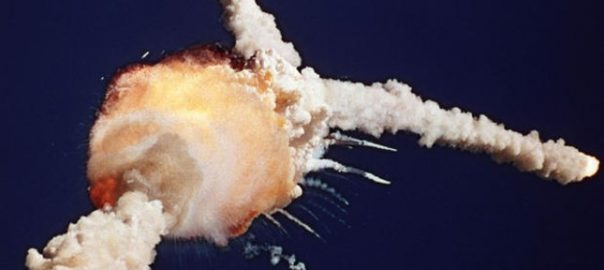 Space Shuttle Exploding On Take-Off