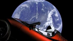 The Tesla Roadster on its way to the Asteroid Belt
